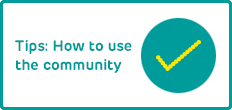 How to use the community