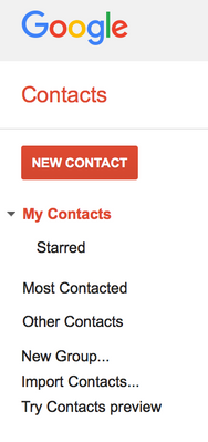 "Select ""Import Contacts"""